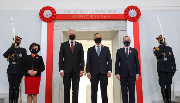 У Варшаві - урочистості до Дня конституції за участю п'яти президентів