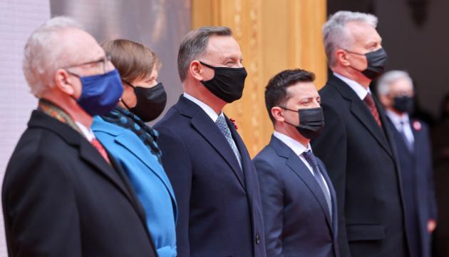Präsidenten der fünf Länder unterzeichnen in Warschau gemeinsame Erklärung