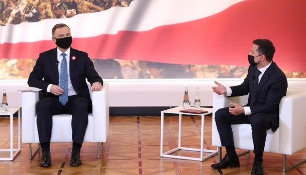 Зустріч Зеленського і Дуди у Варшаві: заява для ЗМІ