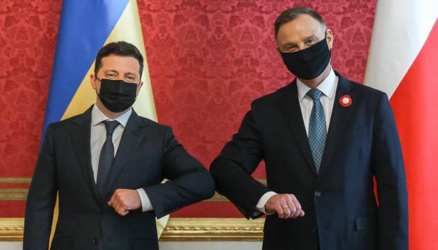 ゼレンシキー大統領、ドゥダ・ポーランド大統領と会談