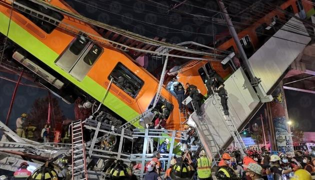Аварія з метро у Мехіко: кількість загиблих зросла до 23