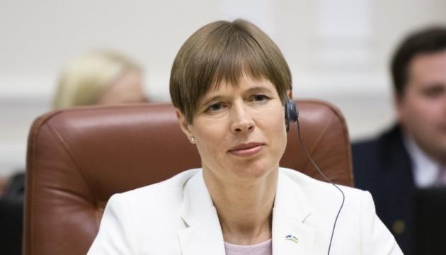 Presidenta de Estonia: Ucrania puede recibir apoyo en el marco de los fondos de la Iniciativa de los Tres Mares