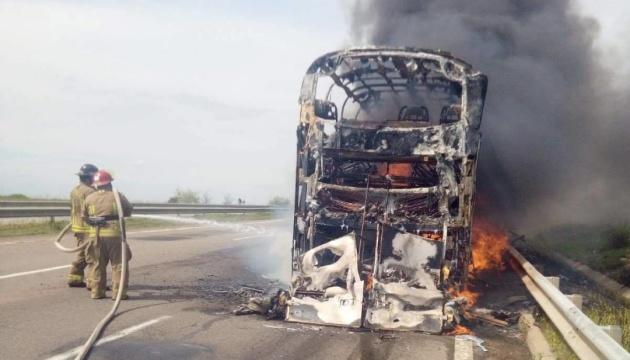 На Одещині вщент згорів автобус