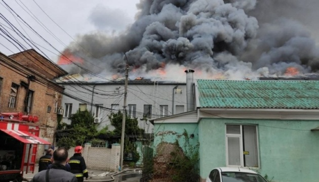 Büroräume brennen in Winnyzja