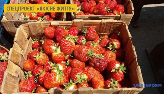 На ринках Житомира з'явилася українська полуниця