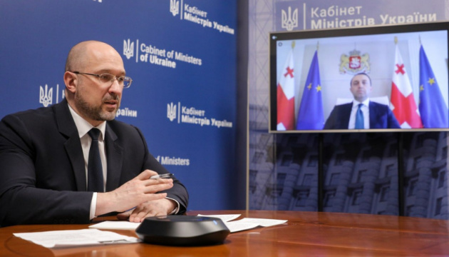 PMs of Ukraine and Georgia discuss implementation of NATO standards and fight against COVID-19
