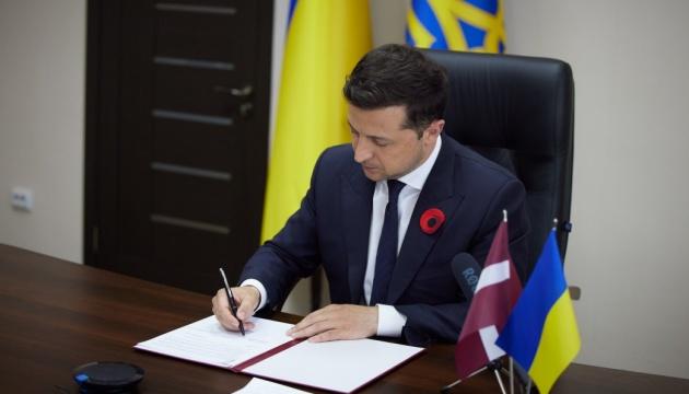 Зеленский и президент Латвии подписали декларацию о европейской перспективе Украины