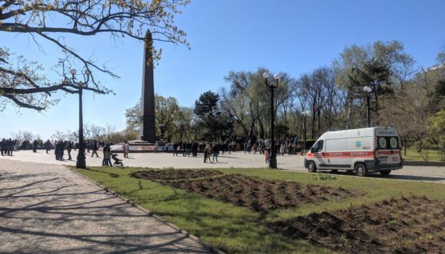 Георгіївські стрічки, свастика та штовханина: в Одесі затримали провокаторів