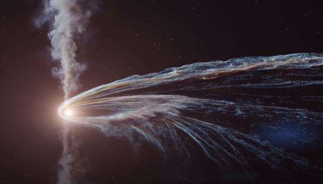 Німецькі вчені показали, як чорна діра розриває зірку на клаптики