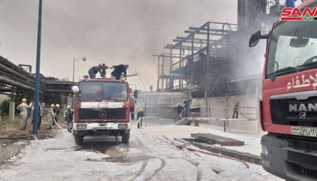 У Сирії сталася пожежа на нафтопереробному заводі