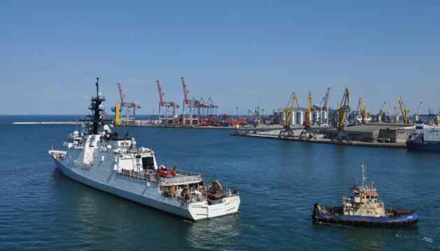 Сторожовик Берегової охорони США Hamilton після спільних навчань відбув з порту Одеси