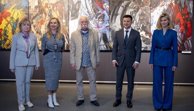 Зеленський із дружиною відвідали виставку Івана Марчука