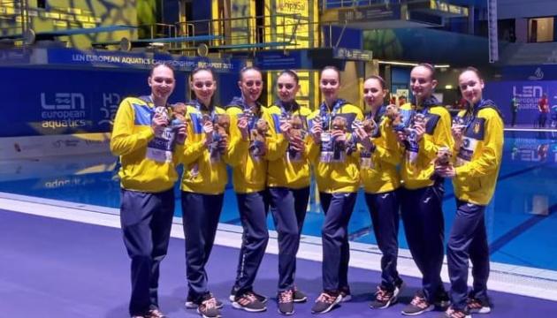 Україна виграла третю медаль у синхронному плаванні на чемпіонаті Європи