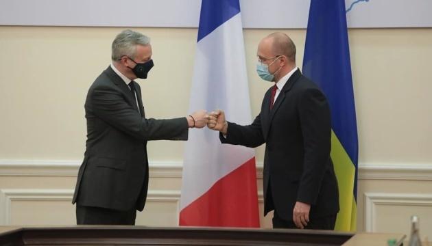 Ukraina i Francja podpisały cztery umowy o wartości ponad 1,3 mld euro