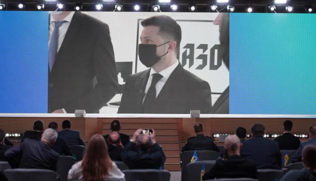 Zelensky abre el Centro Cibernético UA30
