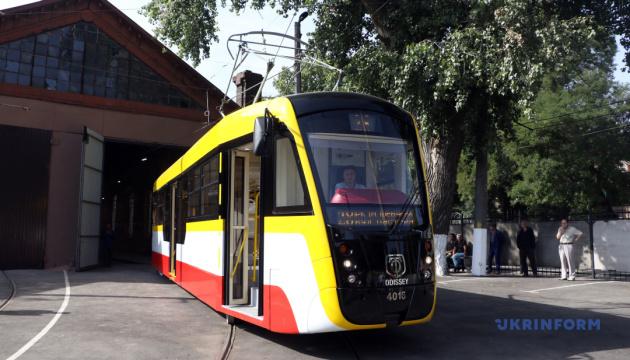 В Одессе запустили курортный трамвай