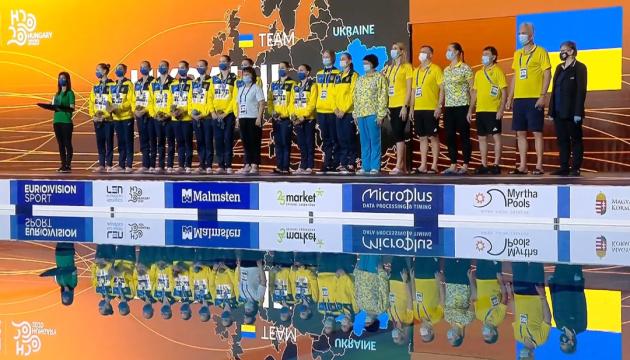 Украинская команда по синхронному плаванию стала чемпионом Европы в хайлайте