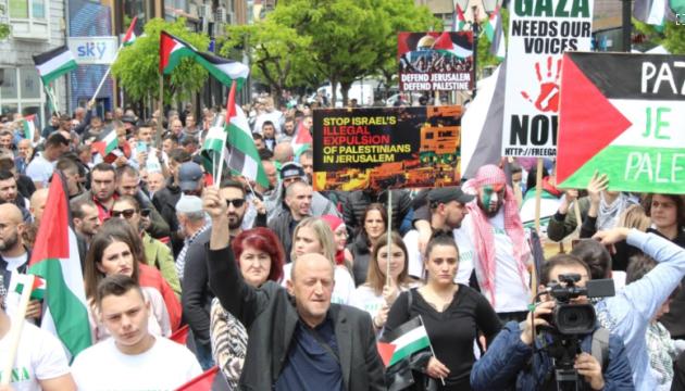 У Європі мітингують на підтримку палестинців у протистоянні ісламістів із Ізраїлем