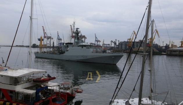 Britischer Patrouillenschiff läuft in Hafen Odessa ein