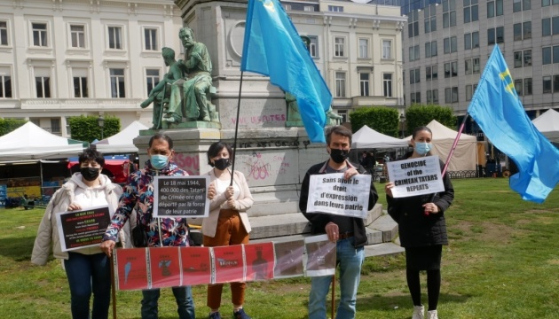 Біля Європарламенту пройшов пікет до роковин депортації кримськотатарського народу