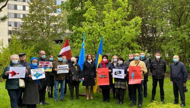 Українська громада Латвії вшанувала роковини депортації кримських татар