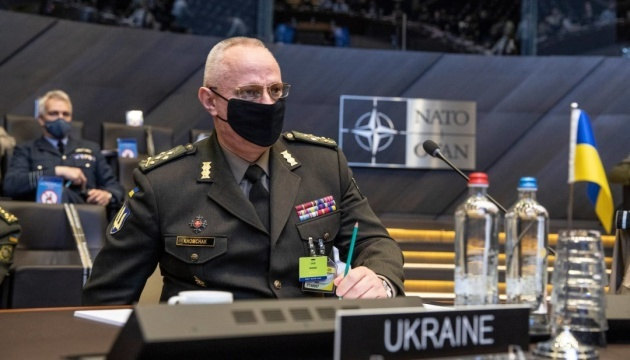 Khomchak at NATO Military Committee: Russia keeps 80,000 troops near Ukraine
