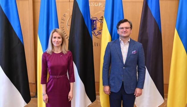 Kuleba spricht mit Kallas über Abwehr russischer Aggression und Gipfel der Krim-Plattform