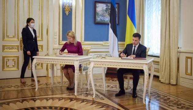 Естонія готова підтримати вступ України до ЄС - Зеленський і Каллас підписали заяву