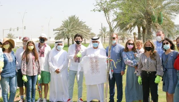 До Дня вишиванки українська громада висадила дерева в передмісті Абу-Дабі