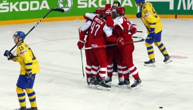 Чемпіонат світу з хокею: Швеція сенсаційно програла Данії, Німеччина розгромила Норвегію