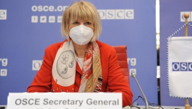 """Sekretarz generalna OBWE uważa """"Porozumienia mińskie"""