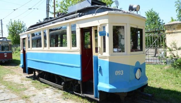 Во Львове прошла выставка ретро трамваев