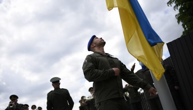 Марків підняв прапор на львівському меморіалі Героям Небесної сотні