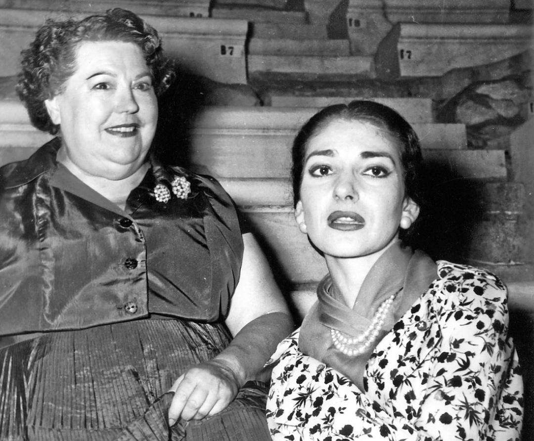 Ельвіра де Ідальго та Марія Каллас, Афінах. 1954 р. 1