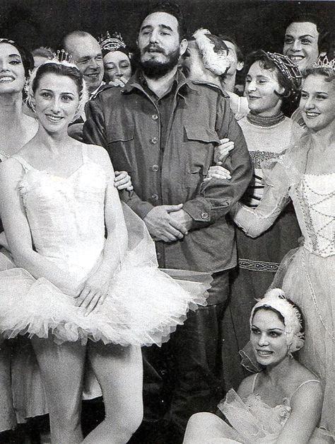 Фідель Кастро, Майя Плісецька і артисти Великого театру СРСР. 1963 р.