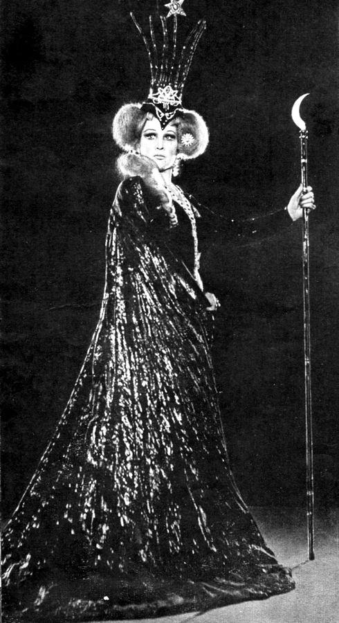 """У ролі Цариці ночі в опері """"Чарівна флейта"""", 1966 р."""