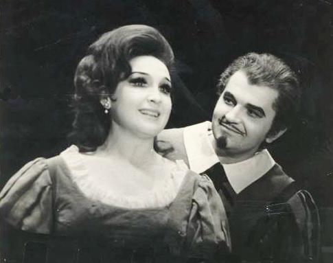 """3-Євгенія Мірошниченко (Джильда ) та Денис Корольов (герцог) в опері """"Ріґолетто"""""""