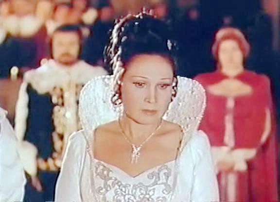 18-у ролі Лючії в кіноопері Лючія ді Ламмермур, 1980 р.