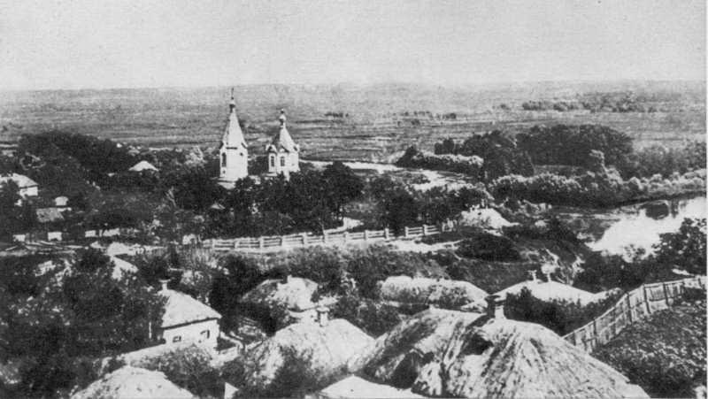 панорама Гадяча із Драгоманової гори