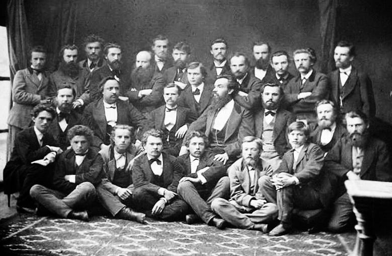 """члени """"Старої громади"""", М. П. Драгоманов - другий від вікна_ серпень 1874 р. 1"""