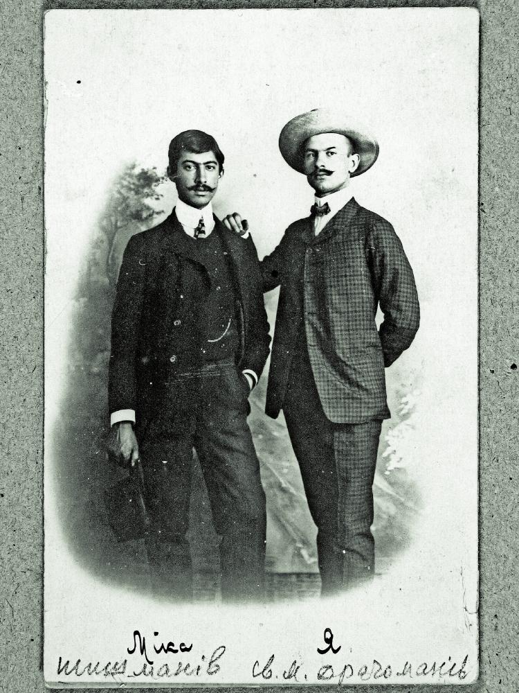 син Михайла Драгоманова Світозар (праворуч) із племінником Димитром)Шишмановим - єдиним сином його найстаршої сестри Лідії