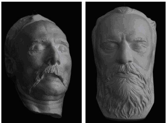 Посмертна маска великого українського історика М.П.Драгованова