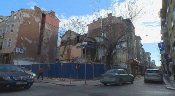руїни на місці знесеного будинку сім'ї Драгоманових, Софія, 2017 р.