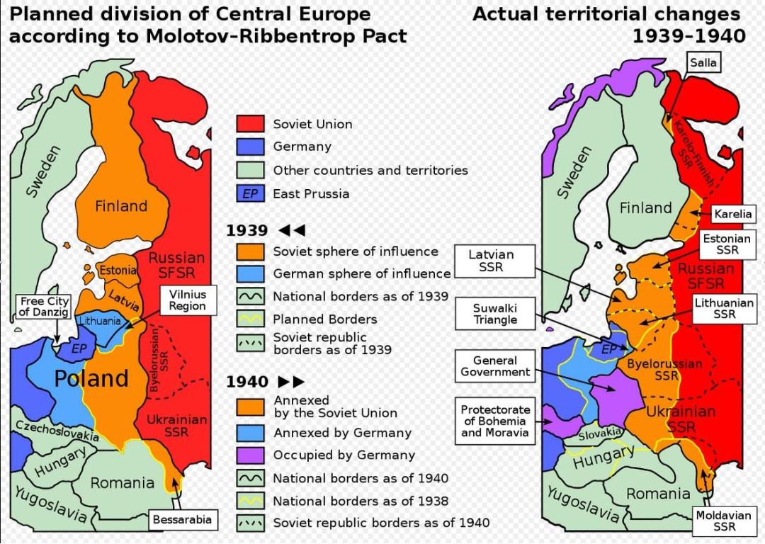 План поділу Європи за секретним протоколом