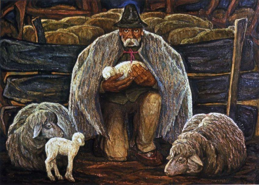 """Картина Володимира Микити """"Ягнятко"""", 1969 рік"""