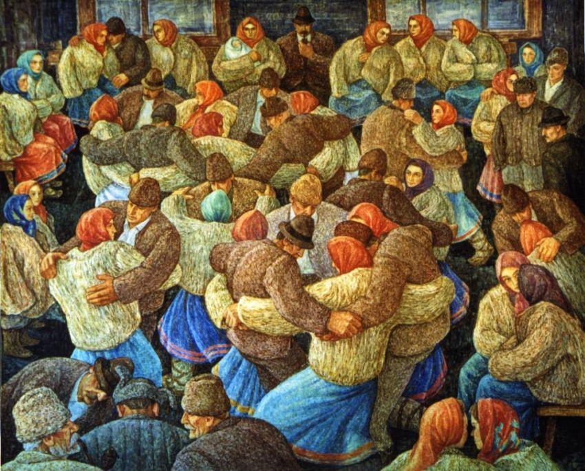 "Картина Володимира Микити ""За щастя онука"",1972 р."