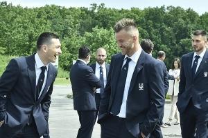 Fußball-EM: Ukrainische Nationalmannschaft in Bukarest eingetroffen
