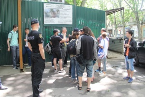 В Одессе проходит акция против сноса «Типографии Фесенко»