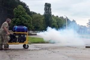 В Харькове испытали аэрозольный генератор для маскировки военной техники