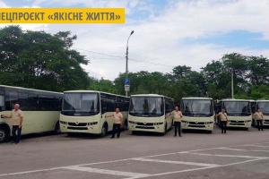 Херсону передали 10 нових автобусів українського виробництва